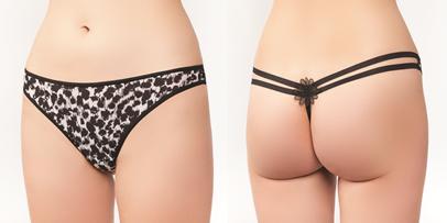 Bikini leopard alb negru 0